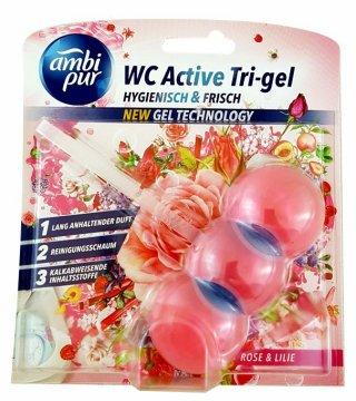 Ambi Pur Wc Kulki Active Tri Gel Rose & Lily (45g) Ean: 8435495824992