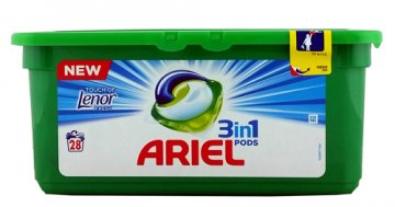 Kapsułki do prania  Ariel Caps 3in1 Color (28 szt)  EAN:8001090309556