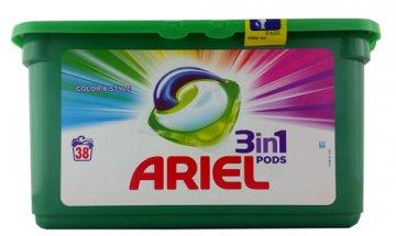 ARIEL 3IN1 COLOUR  CAPSULES  DUOPACK (30PCS)