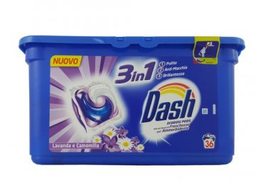 DASH CAPS 3IN1 LAVENDER&CHAMONILE (36PCS)  EAN 4015600708016