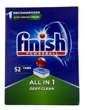Finish Tabs Powerball All In One 52 Regular Tabletki do zmywarek (52szt) EAN:5900627066616