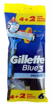 GILLETTE BLUE 3 BAG            (6 PCS)