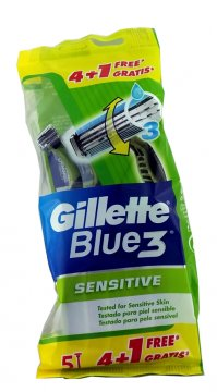 Gillette Blue 3 - Sensitive  worek  (5szt) EAN:7702018011551