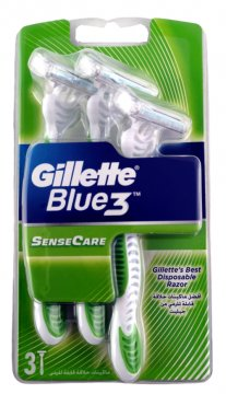 GILLETTE  BLUE 3 SENSITIVE (3 PCS )