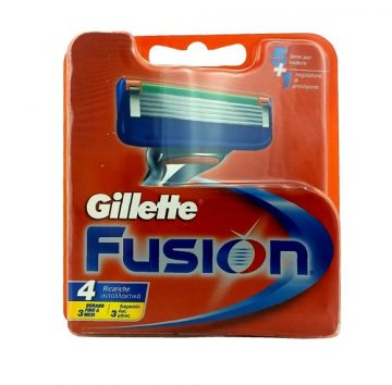 GILLETTE FUSION (4 PCS)