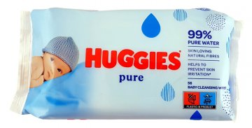 HUGGIES BABY WIPES PURE (56 PCS)