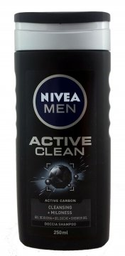Nivea żel pod prysznic Active Clean Men(250ml) EAN:4005900123749