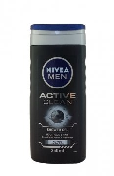 NIVEA ГЕЛЬ ДЛЯ ДУША ACTIVE CLEAN MEN (250MЛ)