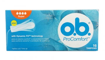 Tampony OB Procomfort Super (16szt) EAN:3574660295108