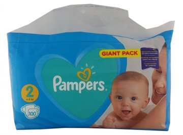 Pampers New Gp Mini Nr 2 (100 szt) (4-8kg) EAN:8001090949370
