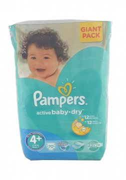 PAMPERS ACTIVE BABY-DRY РАЗМЕР 4+ GIANT PACK (70 ШТ)
