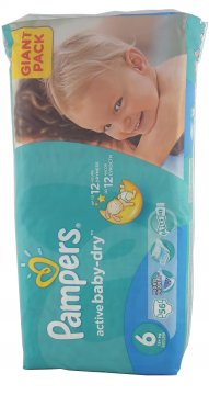 PAMPERS ACTIVE BABY-DRY РАЗМЕР 6 GIANT PACK (56 ШТ)
