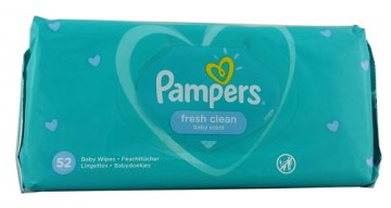 Pampers Chusteczki  Natural Clean (64szt) EAN:4015400622413