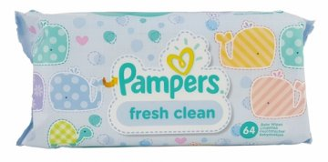 PAMPERS WIPES FRESH CLEAN (64 PCS)